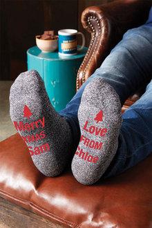 Personalised Christmas Grey Marl Socks - 310920