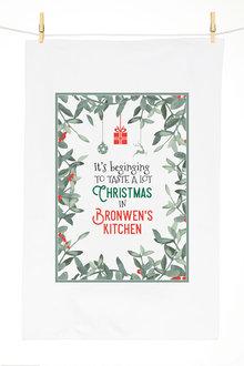 Personalised Christmas Banquet Tea Towel - 310951