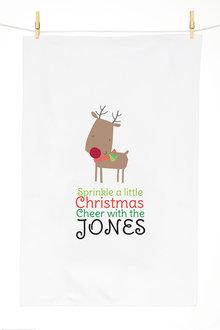 Personalised Christmas Cheer Tea Towel - 310952