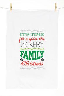 Personalised Family Christmas Tea Towel - 310953