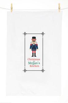 Personalised Christmas Nutcracker Tea Towel - 310954