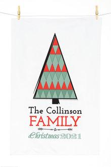 Personalised Christmas Tree Tea Towel - 310955
