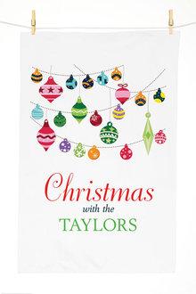 Personalised Festive Ornaments Tea Towels - 310968