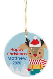 Personalised Christmas Baby Reindeer Christmas Ornament - 310970