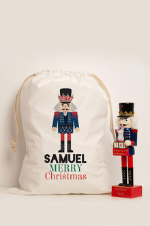 Personalised Christmas Nutcracker Canvas Storage Sack - 311168
