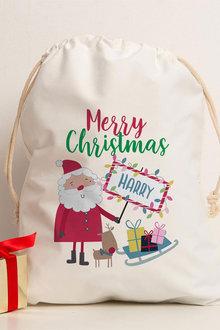 Personalised Christmas Santa Canvas Storage Sack - 311181
