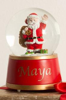 Personalised Santa Musical Globe - 311183