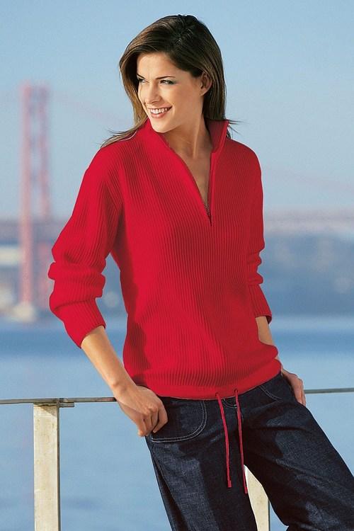 Capture European Ribbed 1/2 Zip Sweater