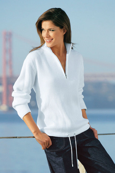 Capture European Ribbed 1/2 Zip Sweater