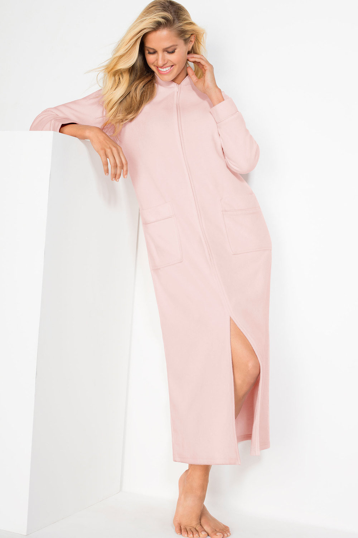 Mia Lucce Microfleece Zip Front Robe Online | Shop EziBuy