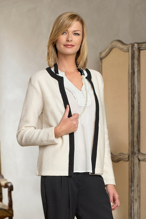 Capture Felted Wool Trim Jacket