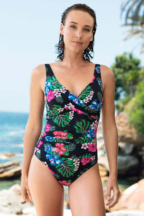 Quayside Secret Support Wrap Bodice Swimsuit