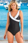 Capture Swimwear Secret Support Textured Cross Front Swimsuit