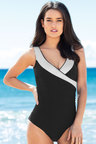 Capture Swimwear Secret Support Textured Cross Front Swimsuit