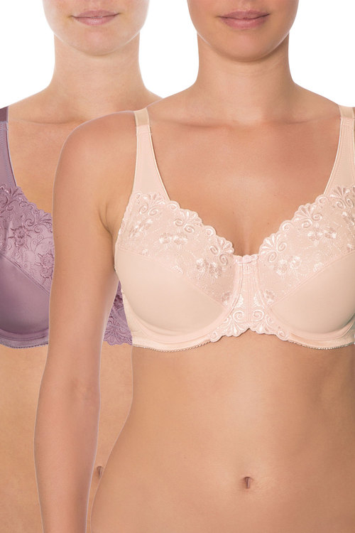 Triumph Embroidered Minimiser Bra Two Pack