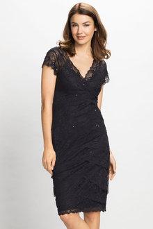 Grace Hill Lace Layered Dress