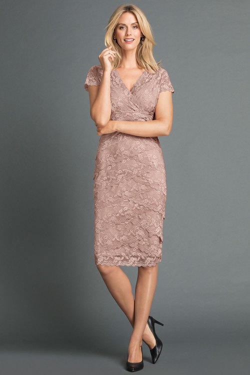 Grace Hill Lace Layered Dress