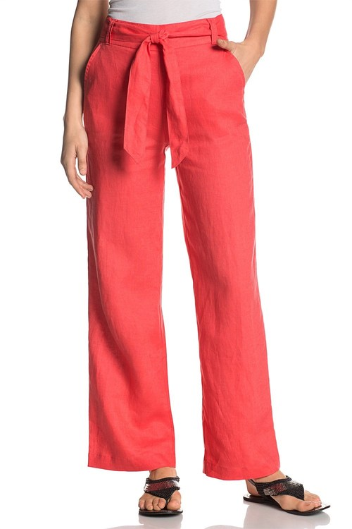 Essentials Linen Wide Leg Pants
