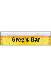 Personalised Beer Bar Mat