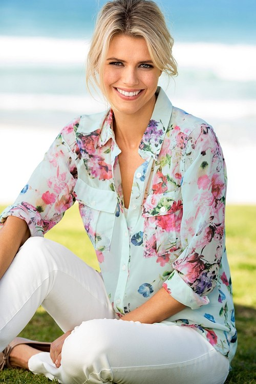 Emerge Must Have Pocket Blouse with Free Camisole
