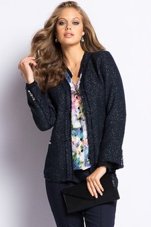 European Collection Textured Blazer