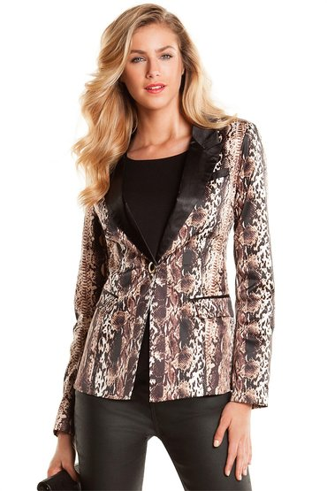 European Collection Animal Print Blazer