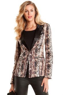 European Collection Animal Print Blazer - 94825