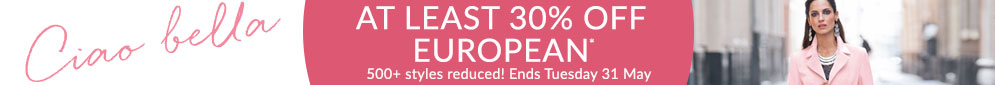 At least 30% off European