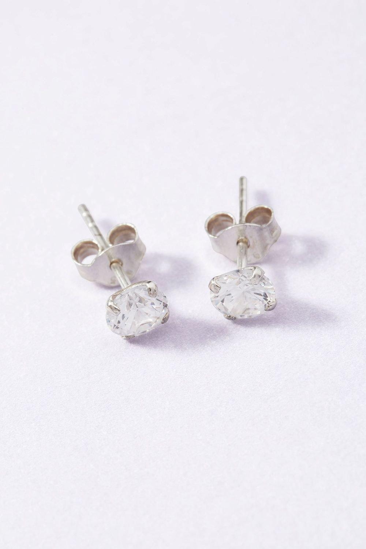 2e59a0f10 Next Sterling Silver Sterling Silver Cubic Zirconia Stud Earrings Online |  Shop EziBuy