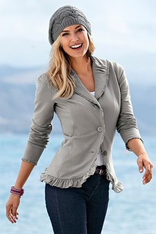 Urban Ruffle Sweat Blazer