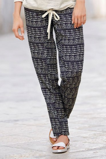 Next Printed Tapered Trousers