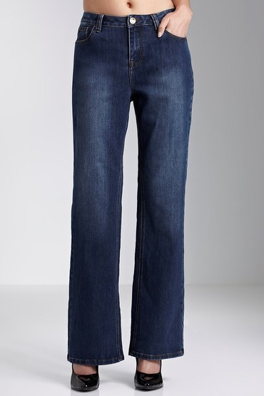 Essentials High Rise Bootleg Jeans