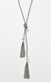 Next Silver Coloured Long Lariat Necklace