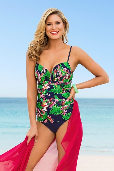 Quayside Secret Support Ruched Swimsuit