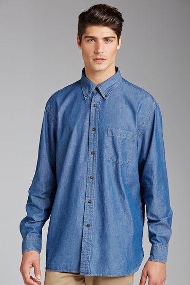 Gazman Classic Denim Long Sleeve Shirt