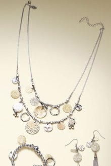Next Gold/Silver Coin Detail Necklace