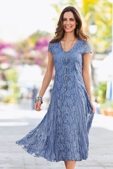 Together Crinkled Lace Dress