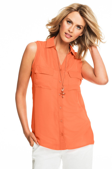 Capture Sleeveless Shirt with Free Cami