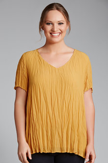Plus Size - Sara Crinkle Top
