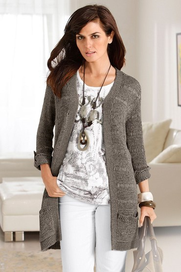 Capture European Loose Knit Cardigan