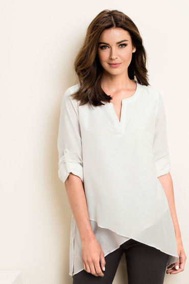 Grace Hill Silk Blend Tunic