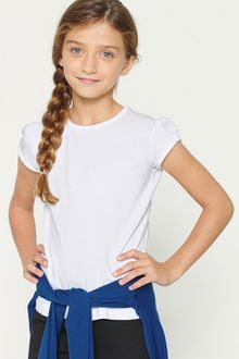 Next White Puff Sleeve T-Shirts Two Pack (3-16yrs)