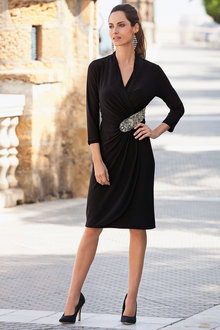 Together Beaded Wrap Dress