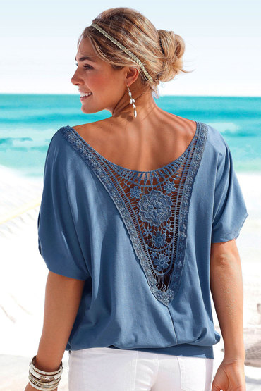 Lace Back Detail Top