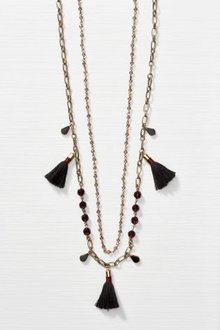 Next Gold Two Row Tassel Detail Necklace