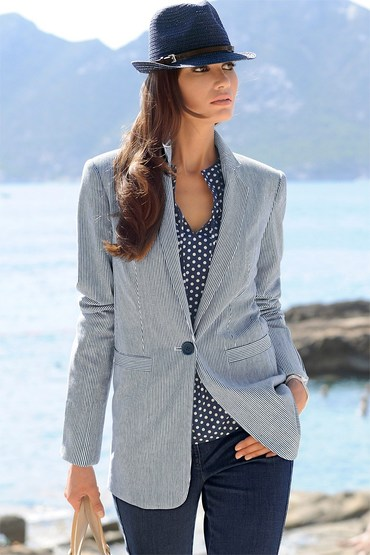 Capture European Stripe Blazer