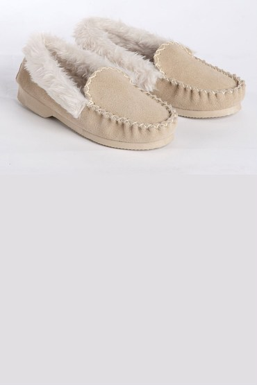 Mia Lucce Suede Fur Lined Slipper