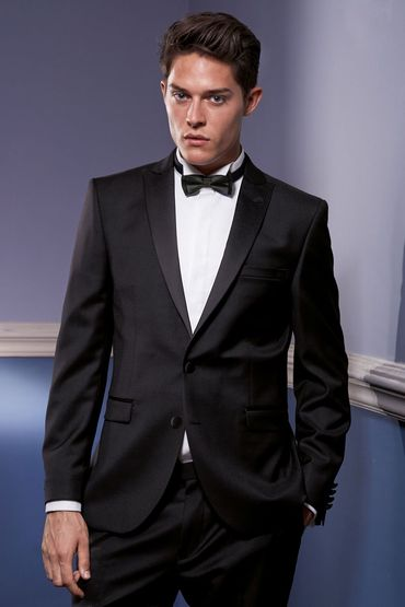 Next Slim Fit Tuxedo Suit: Jacket