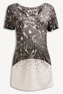 Next Grey Embellished Print Top (Maternity) - 150659