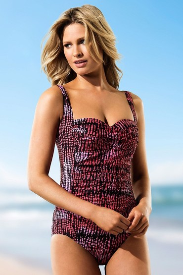 Quayside Secret Support Ruched Bodice Swimsuit